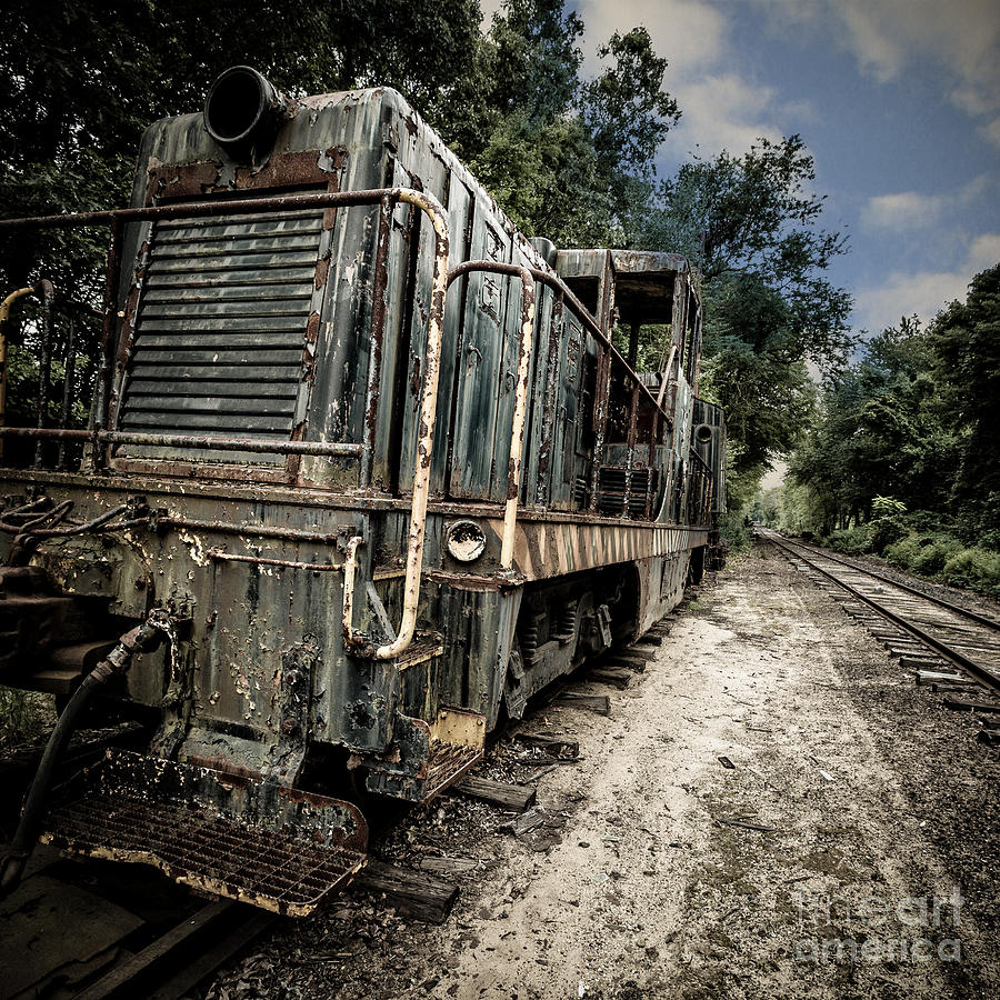 Square Photograph - The Old Workhorse by Edward Fielding