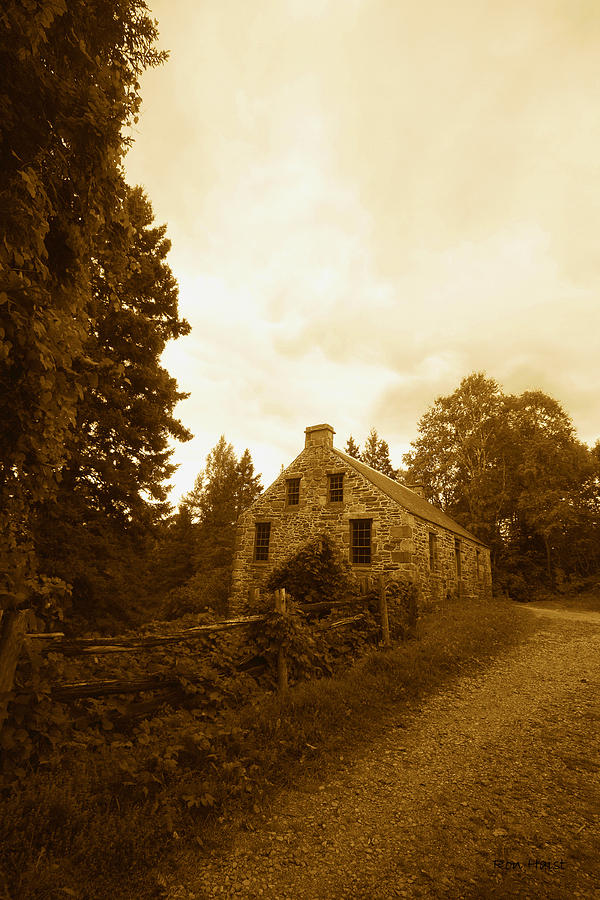 Stone Photograph - The Olde Stone Cottage by Ron Haist