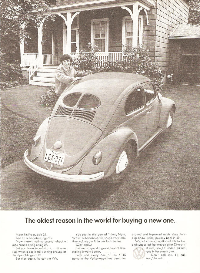 Vw Beetle Digital Art - The Oldest Reason In The World For Buying A New One by Georgia Fowler