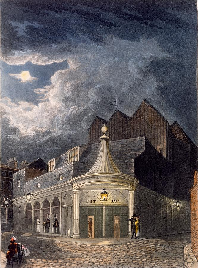 Olympic Theatre Drawing - The Olympic Theatre, 1826 by Daniel Havell