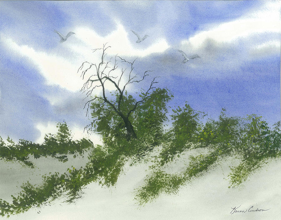 The One Tree Painting by Karen  Condron