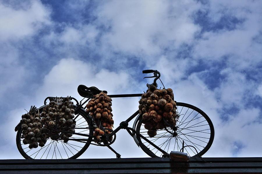 Bicycle Photograph - The Onion Bicycle by Aidan Moran