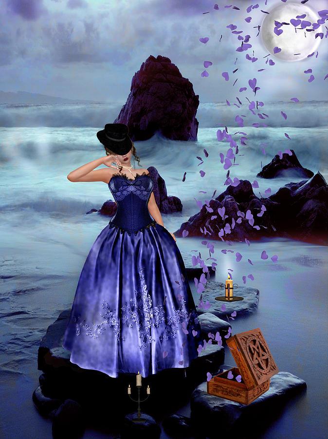 Woman Digital Art - The Open Box by Kristie  Bonnewell