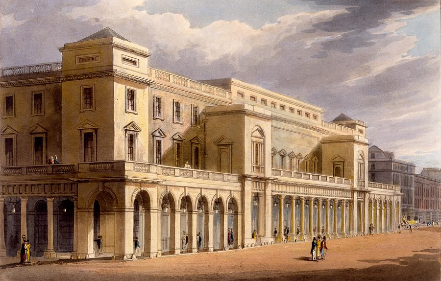 Opera House Drawing - The Opera House, Formerly The Lyceum by Daniel Havell