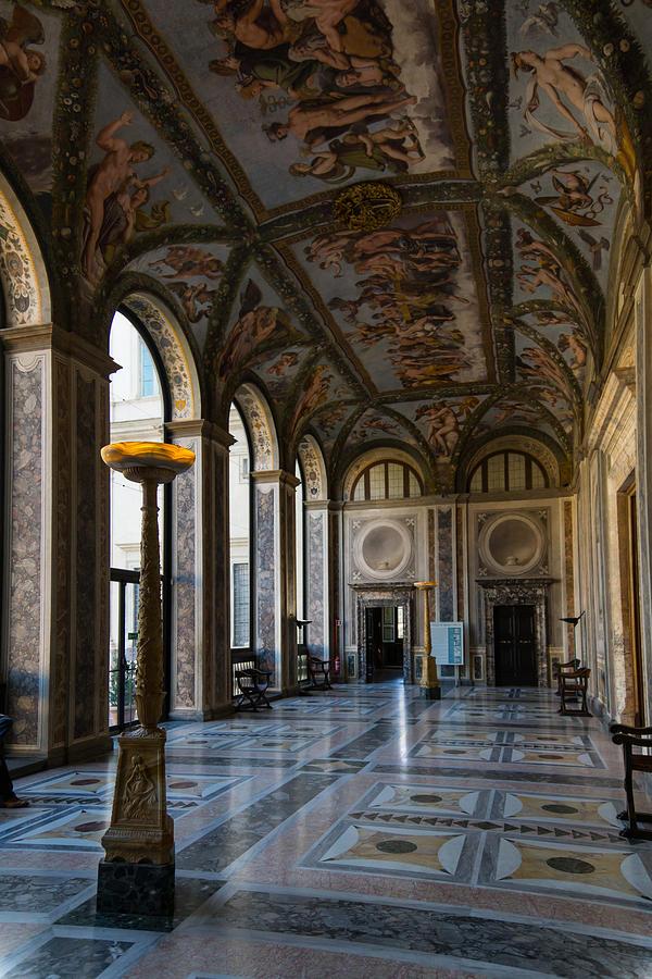 Villa Farnesina Photograph - The Opulent Loggia In Villa Farnesina Rome Italy - 1 by Georgia Mizuleva