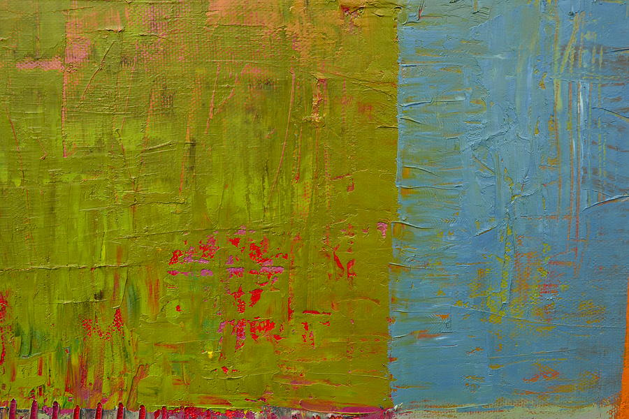 Abstract Painting - The Orange Wedge by Michelle Calkins