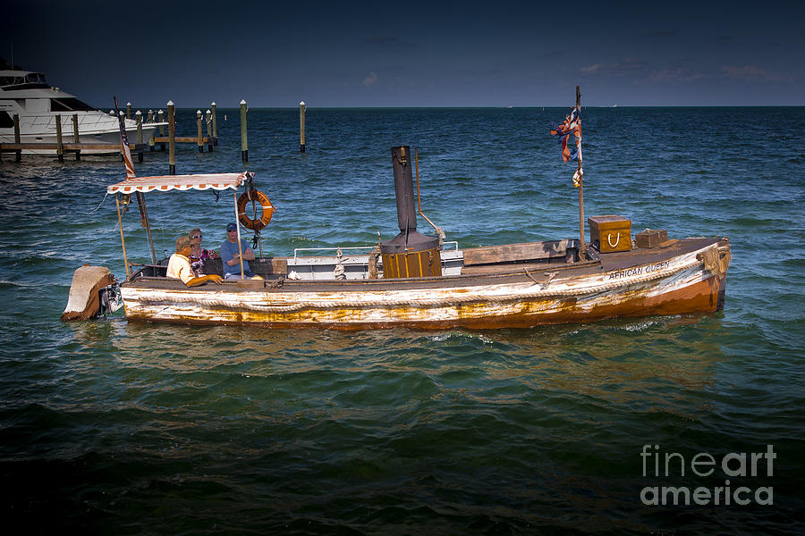 The Original African Queen Boat Photograph by Rene Triay Photography