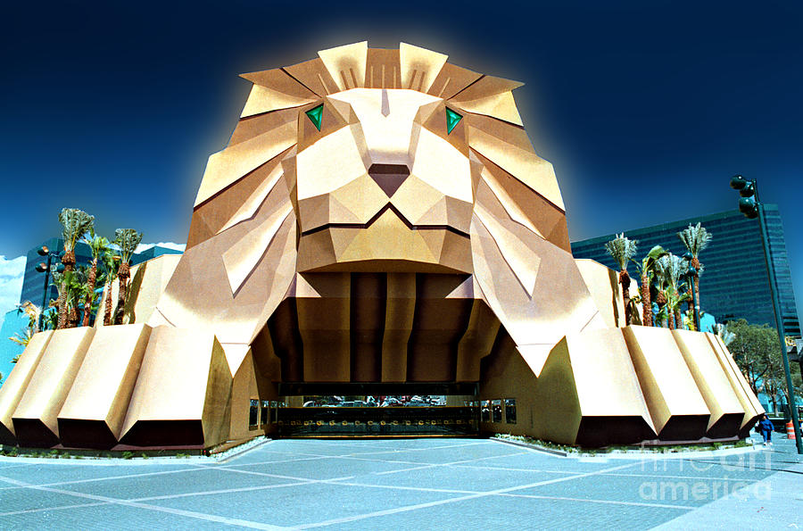 The Original Mgm Grand Entrance Las Vegas Photograph By Mike Nellums
