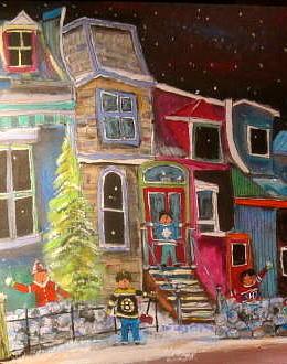 Hockey Players Painting - The Original Three by Michael Litvack