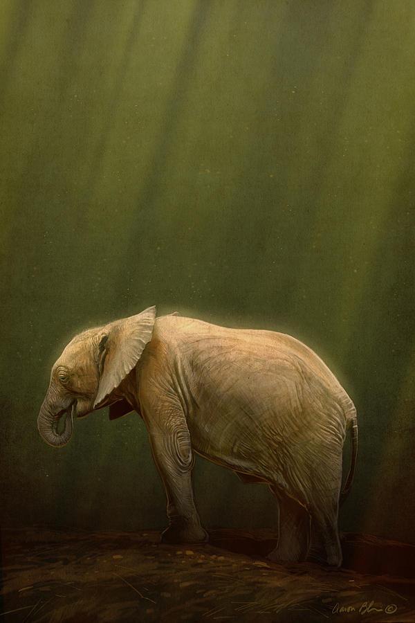 Elephant Digital Art - The Orphin by Aaron Blaise