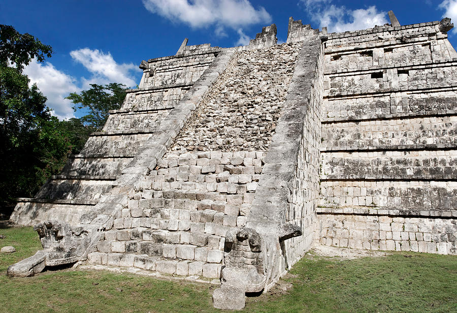 Chichen Itza Photograph - The Ossuary by Jo Ann Snover