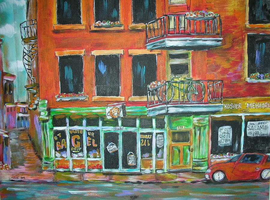 Montreal Painting - The Other Bagel Factory by Michael Litvack