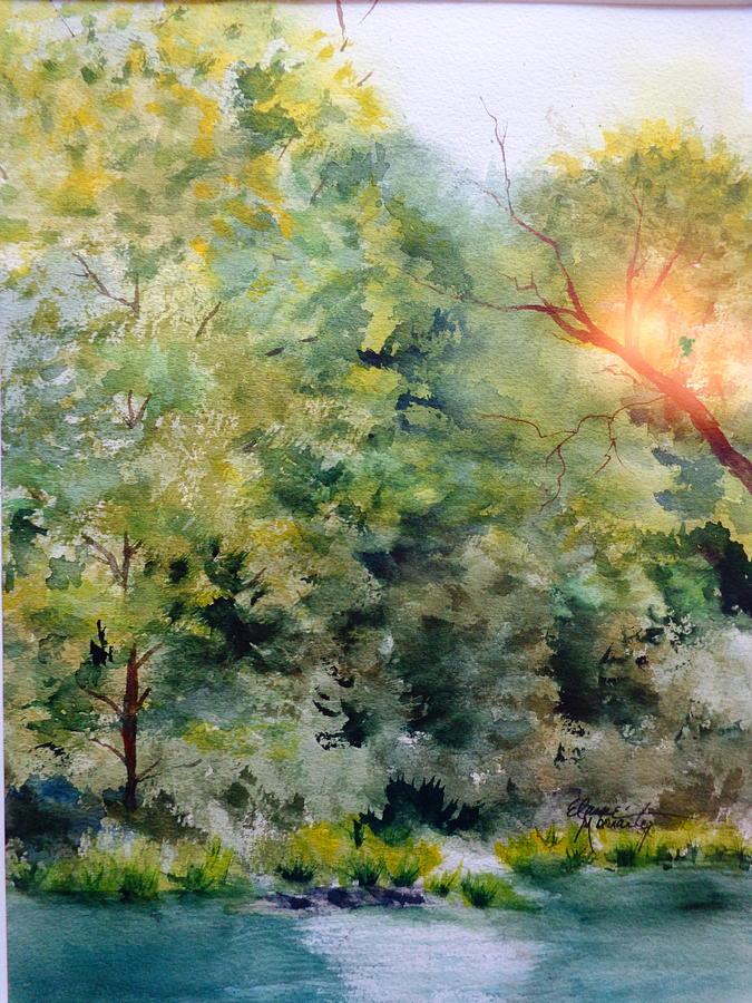 Nature Painting - The Other Side by Elaine Frances Moriarty