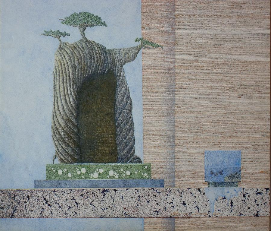 Bonsai Painting - The Overflowing Cup by A  Robert Malcom