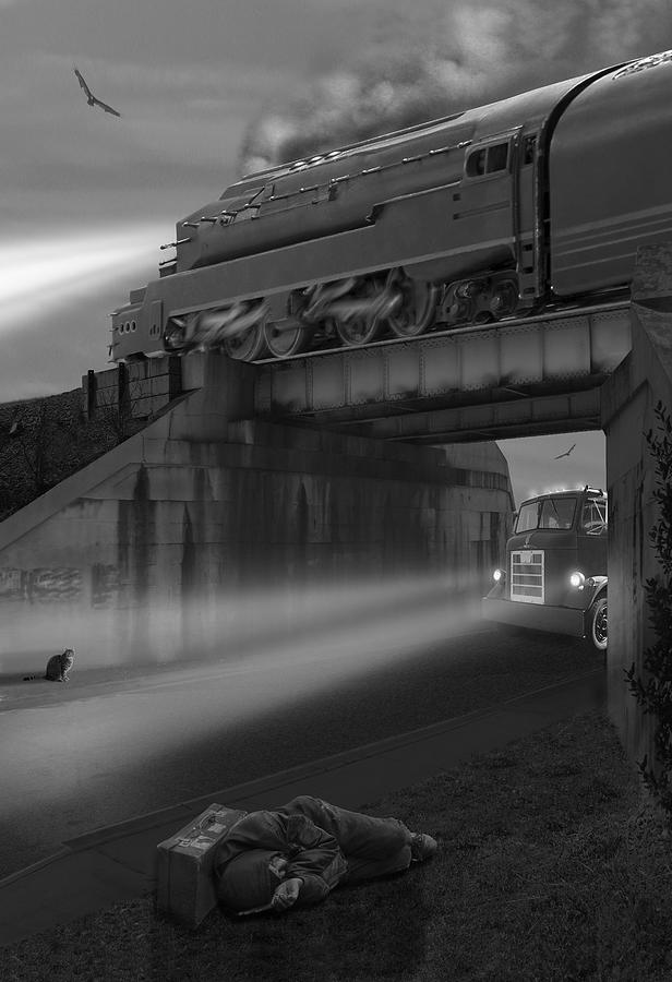 Transportation Photograph - The Overpass by Mike McGlothlen