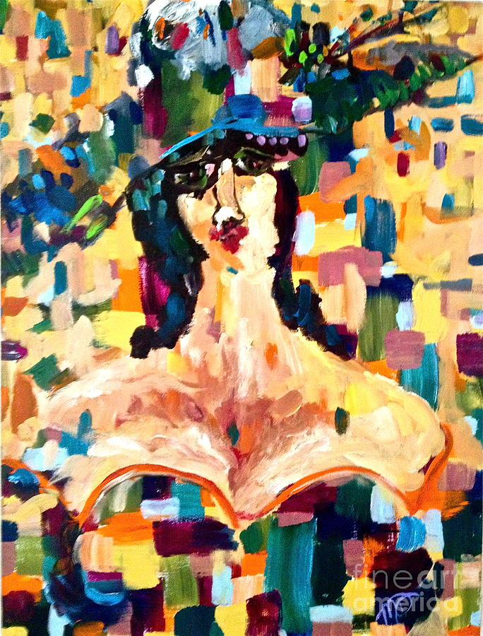 Woman Painting - The Painted Lady by Michelle Dommer