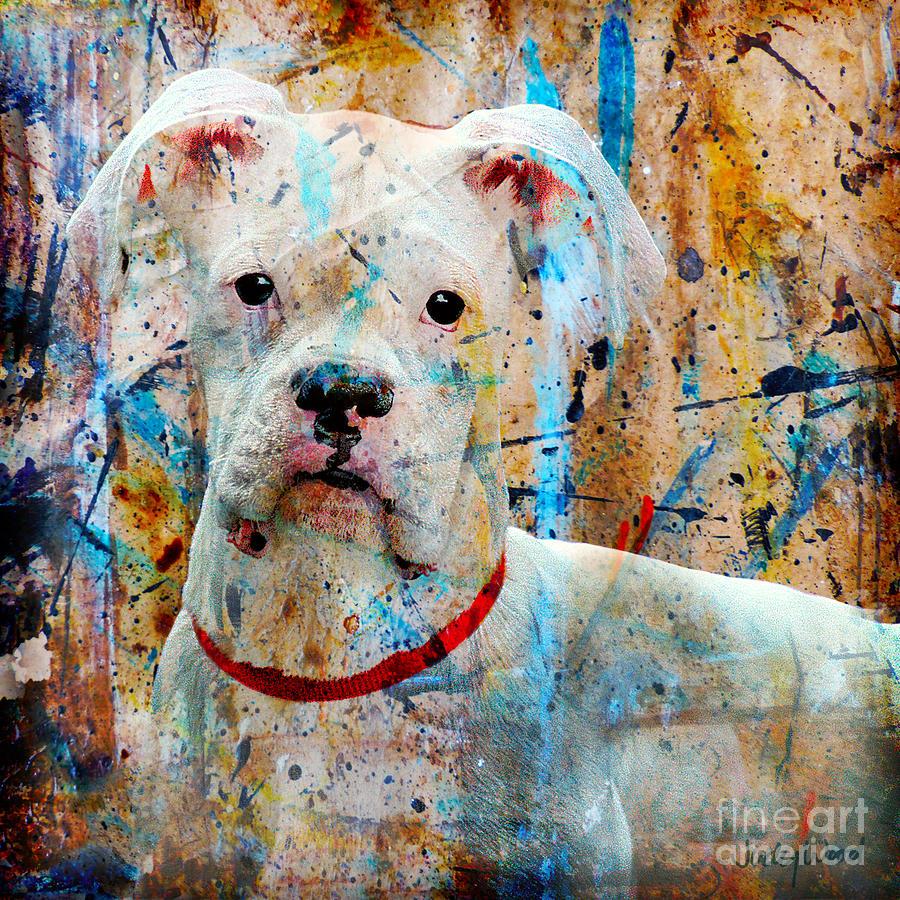 Dog Digital Art - The Painters Dog by Judy Wood