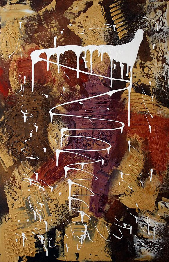Earth Tone Abstract Painting - The Painters Keys by Laura Barbosa