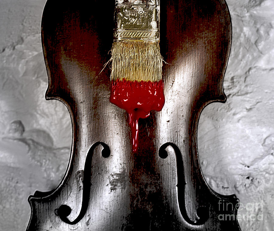 Violin Photograph - The Painting  by Steven Digman