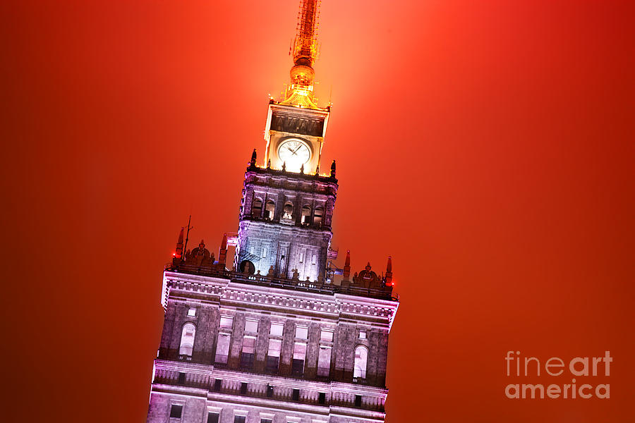 Warsaw Photograph - The Palace Of Culture And Science Warsaw Poland  by Michal Bednarek