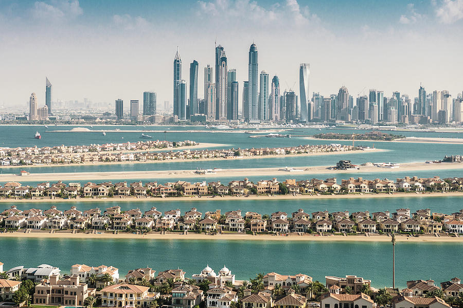 The Palm Jumeirah In Dubai With Skyline Photograph by Franckreporter