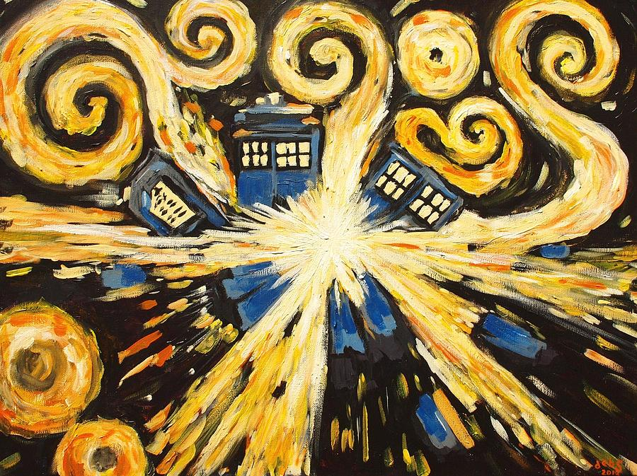 Exploding Tardis Painting - The Pandorica Opens by Sheep McTavish