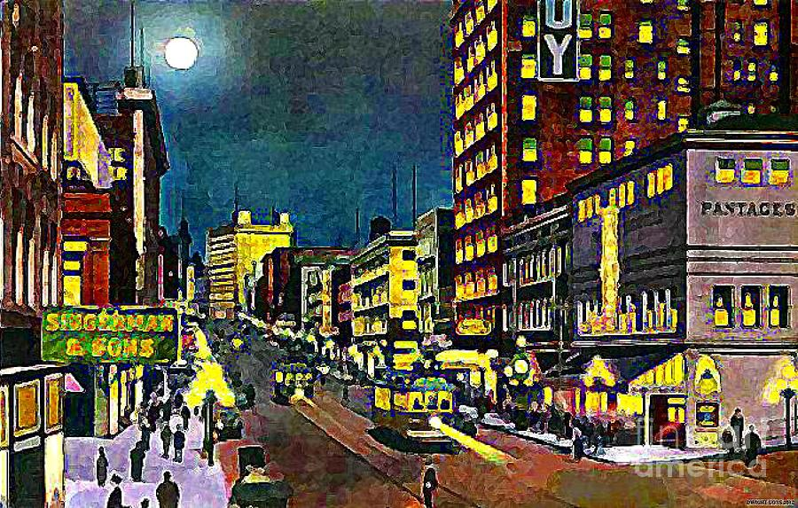 Pantages Theatre Painting - The Pantages Theatre In Seattle Wa Around 1910 by Dwight Goss