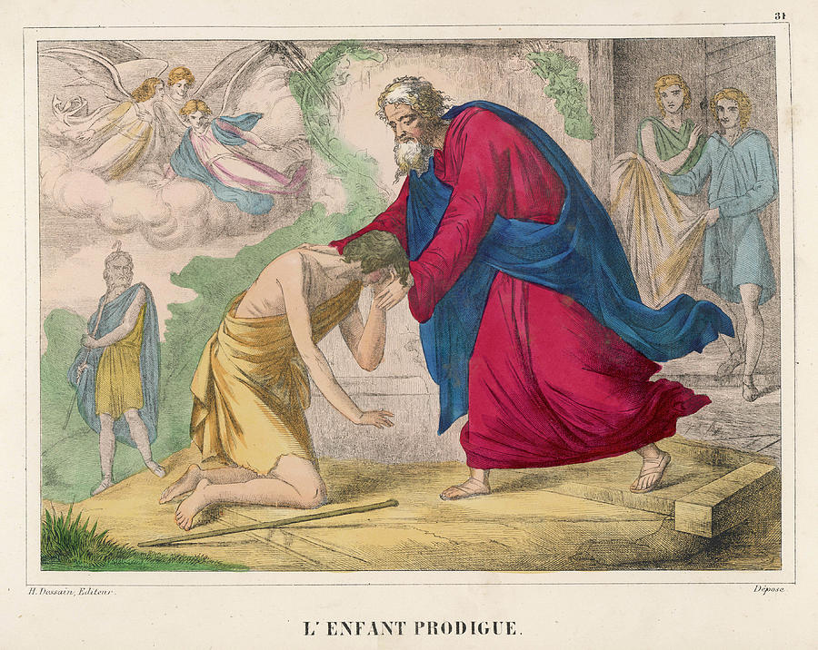 The Parable Of The Prodigal Son Drawing By Mary Evans Picture Library