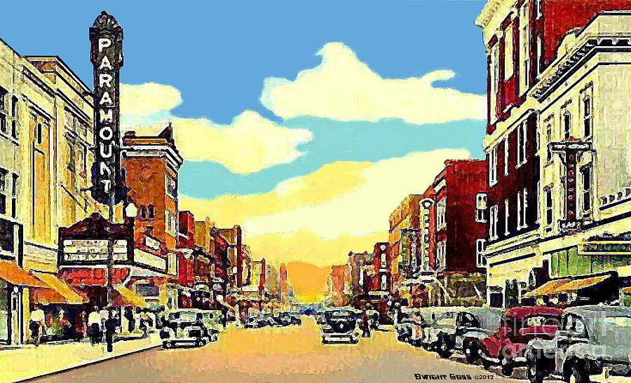 The Paramount Theatre In Newport News Va In 1940 Painting