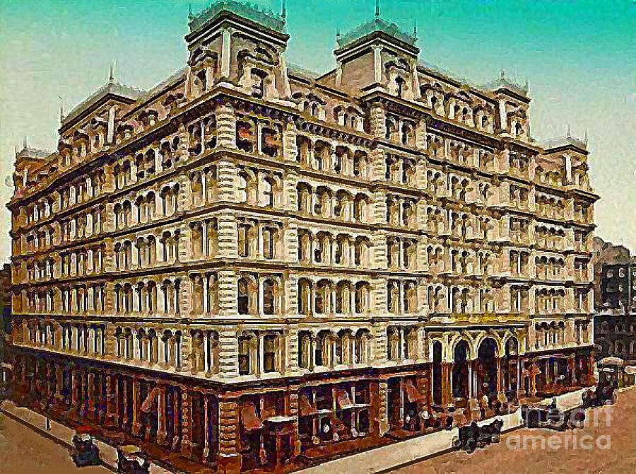 Hotels Painting - The Park Avenue Hotel In New York City In 1910 by Dwight Goss