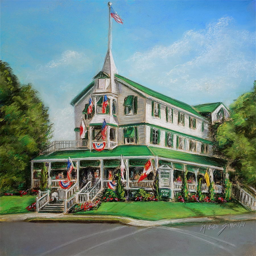 The Parker House Painting By Melinda Saminski