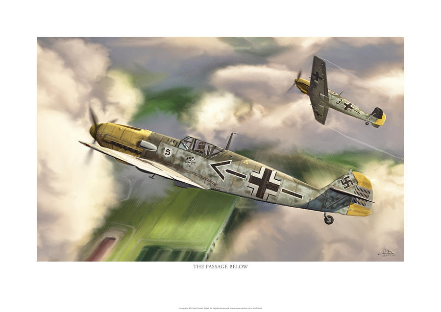 Aviation Digital Art - The Passage Below by Craig Tinder
