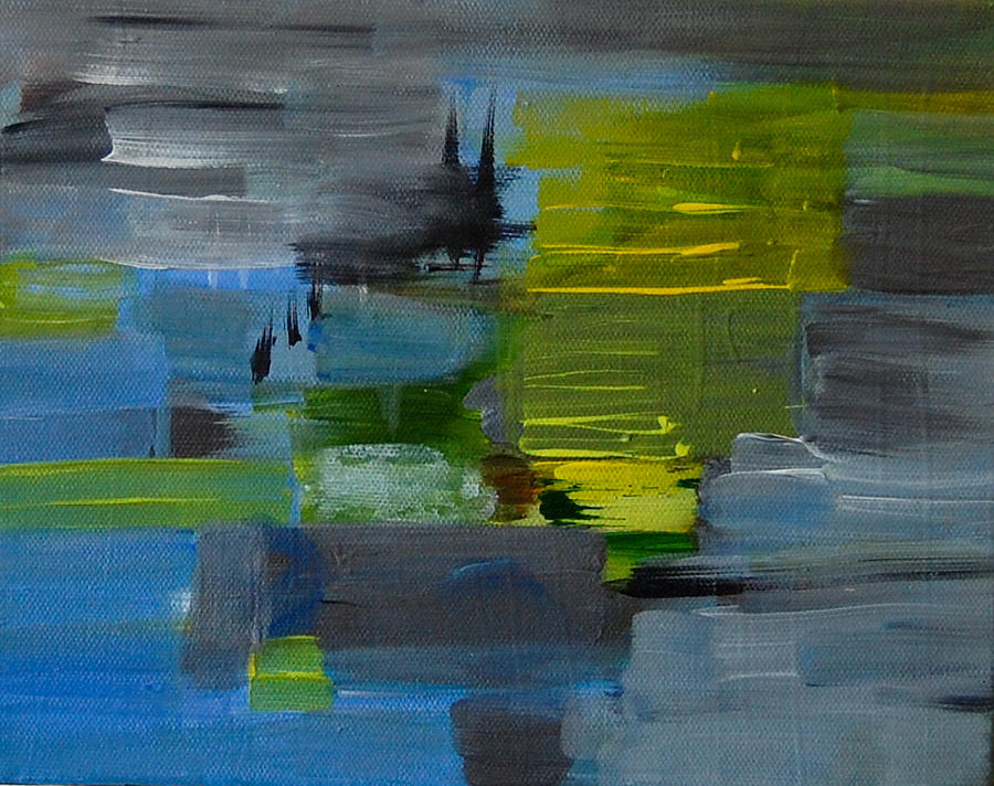 Abstract Painting - The Past is Present by Ellen Brook