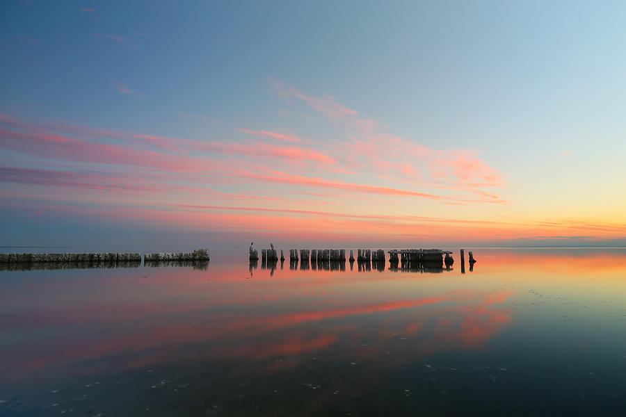 Sun Photograph - The Pastel Sea by Larry Marshall