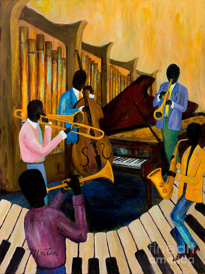 Music Painting - The Pastels by Larry Martin