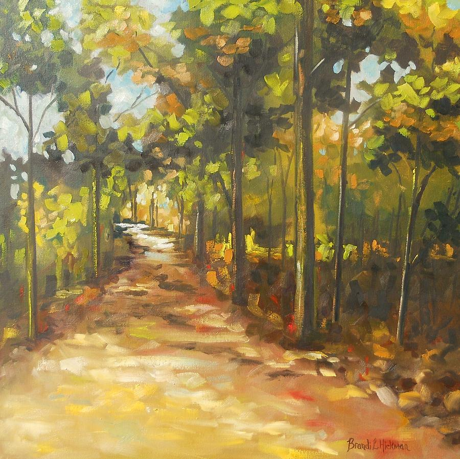Forest Painting - The Path Home by Brandi  Hickman