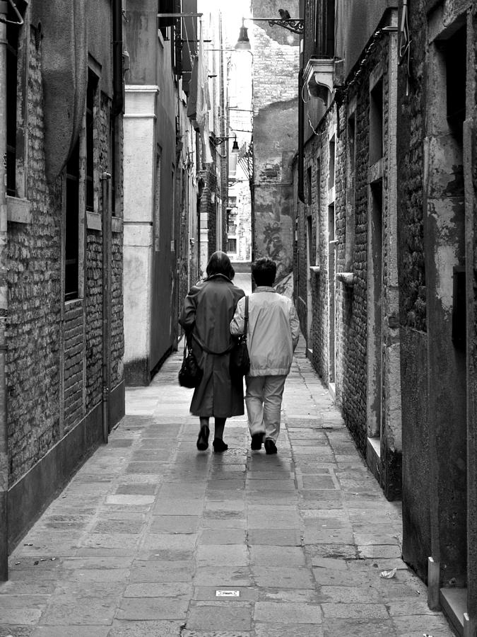 Venice Photograph - The Path Of Friends by Rae Tucker