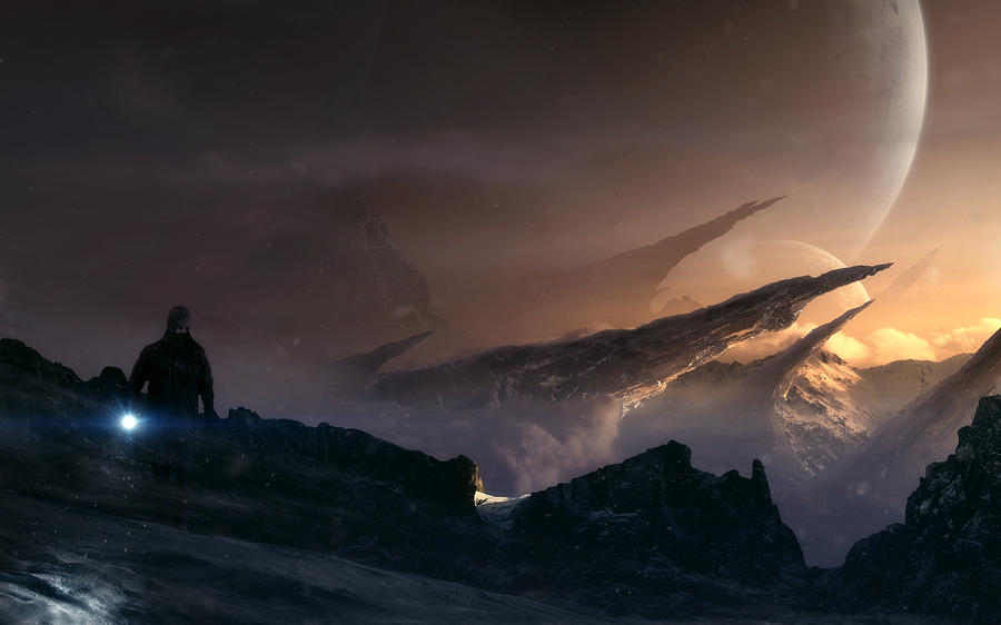 Mountains Digital Art - The Path by Tobias Roetsch