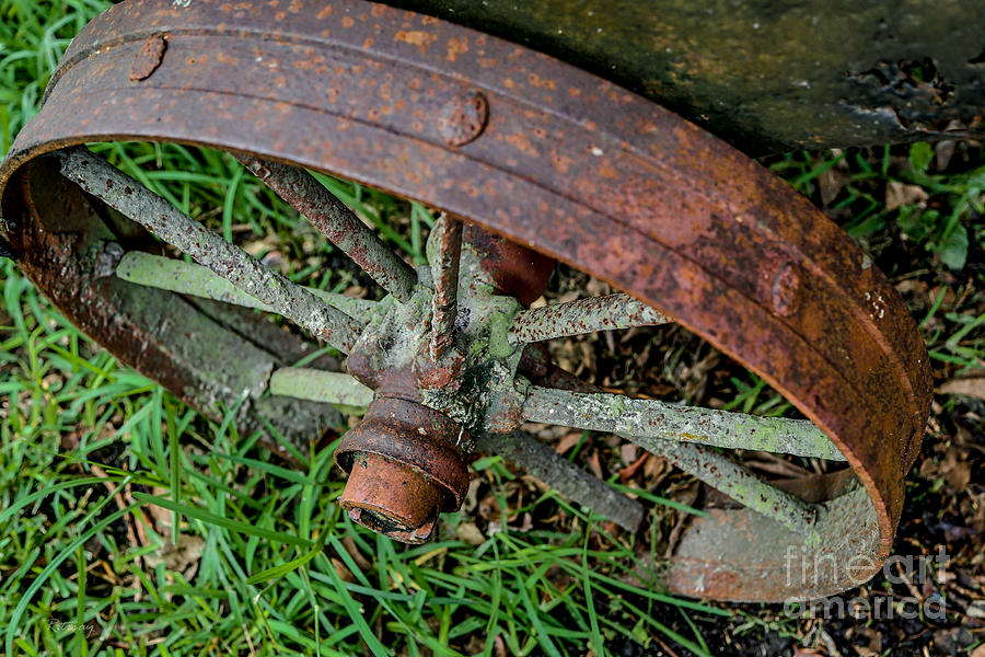 Machinery Photograph - The Patina Of Time by Rene Triay Photography