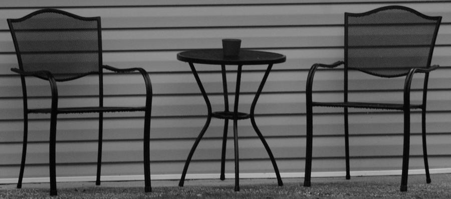 Macro Photograph - The Patio In Black And White by Rob Hans
