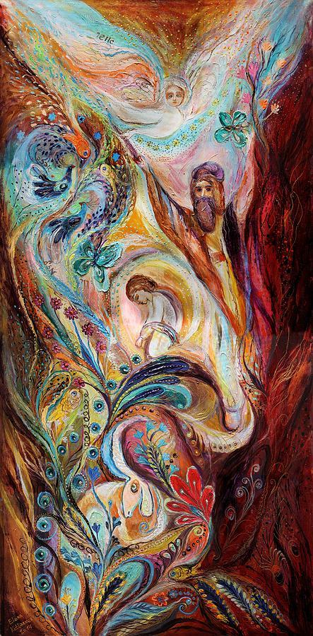 Judaica Store Painting - The Patriarchs Series - Abraham by Elena Kotliarker