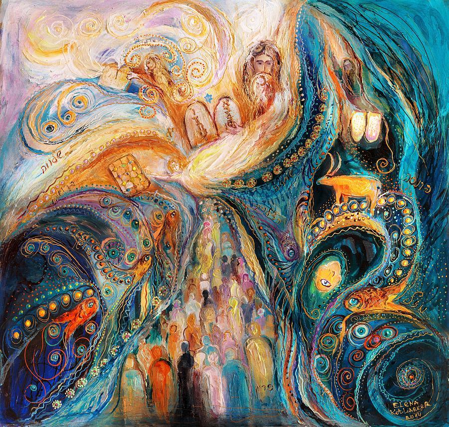 Judaica Store Painting - The Patriarchs Series - Moses by Elena Kotliarker