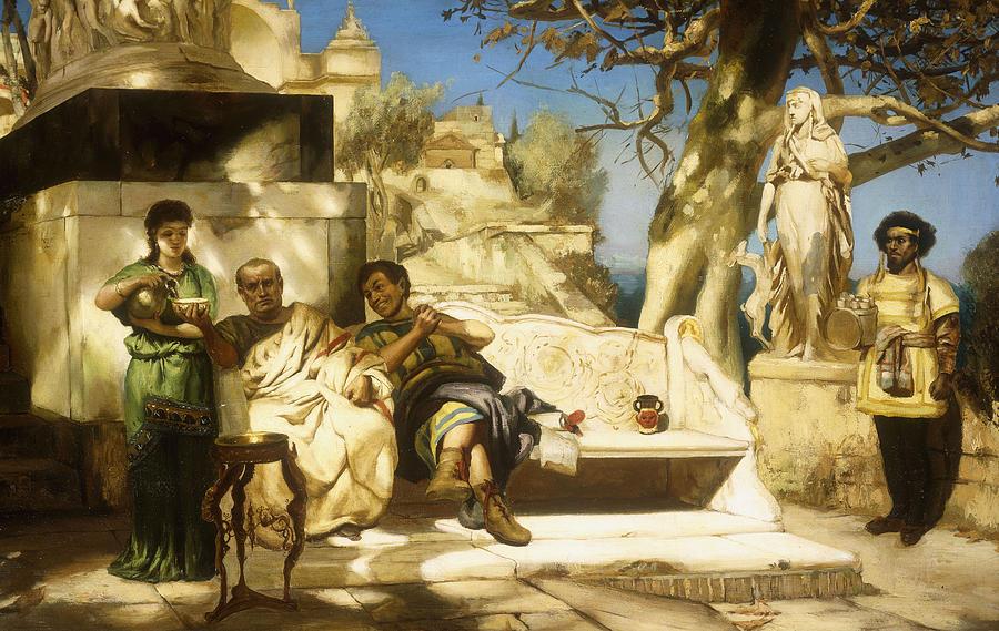 Sun Painting - The Patricians Siesta by Hendrik Siemiradzki