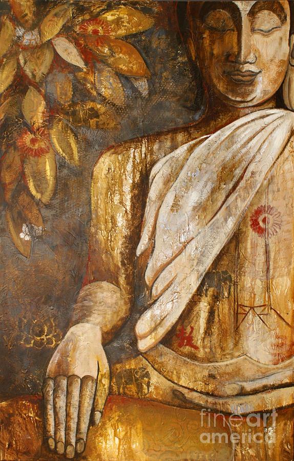 Buddha Painting - The Peace Of The Buddha by Paulina Garoa