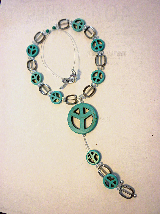 Turquoise Blue Jewelry - The Peace Tree Necklace by Bonnie Harper