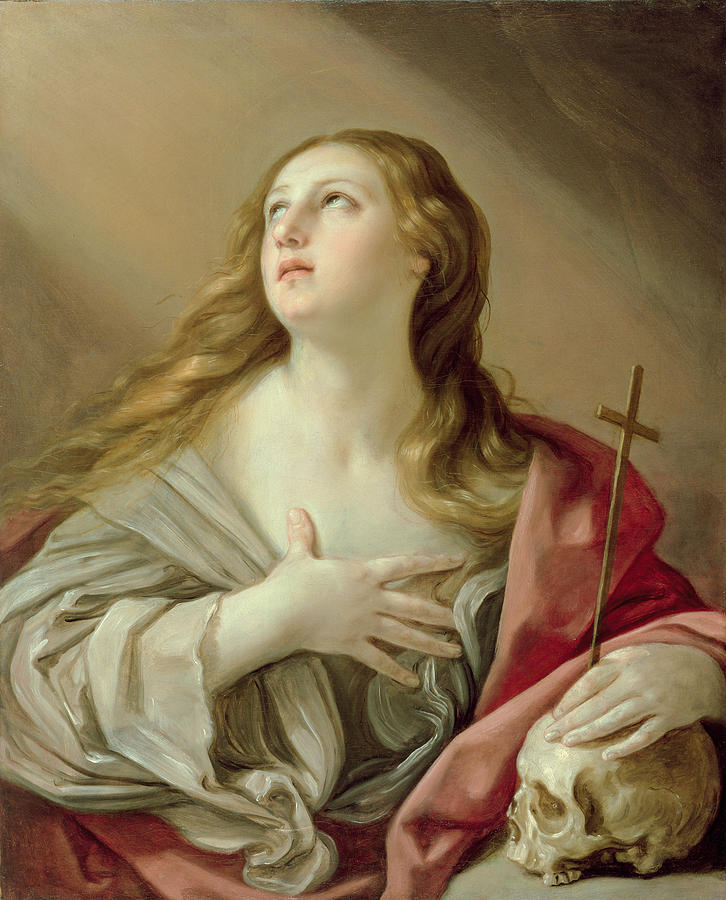 Magdalene Painting - The Penitent Magdalene by Guido Reni