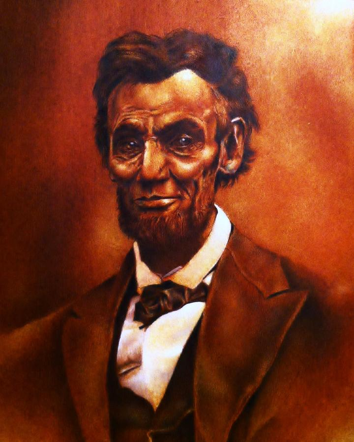 President Lincoln Drawing - The Penny by Carl Baker