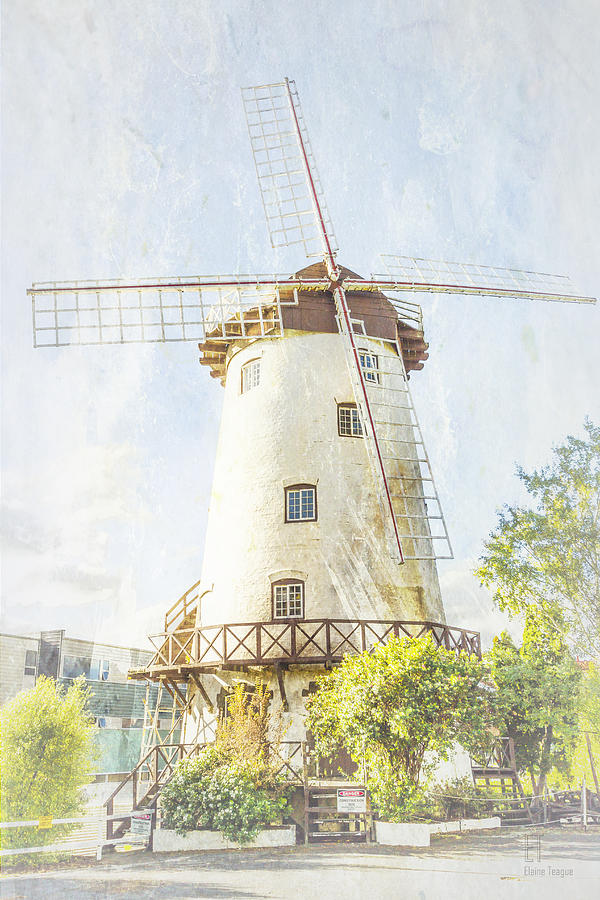 Launceston Photograph - The Penny Royal Windmill by Elaine Teague
