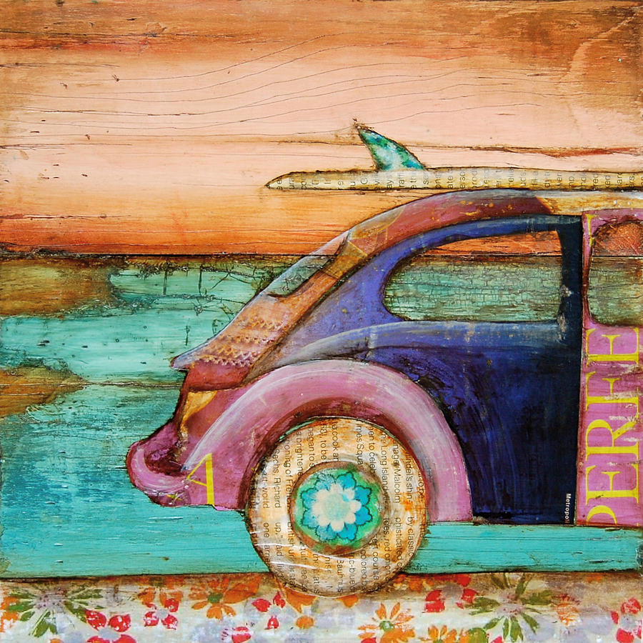 Volkswagen Mixed Media - The Perfect Day by Danny Phillips