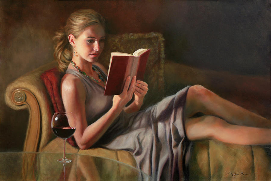Oil Portrait Painting - The Perfect Evening by Anna Rose Bain